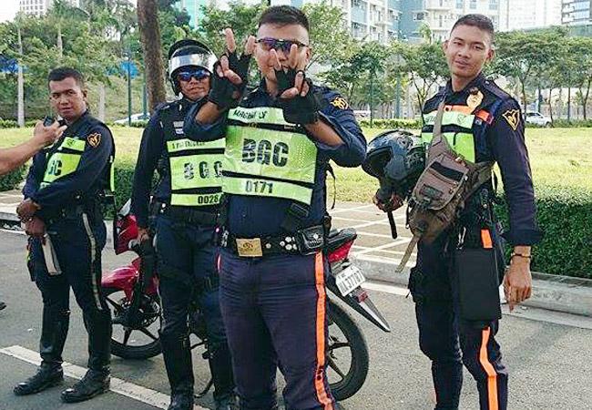 BGC traffic marshals in action