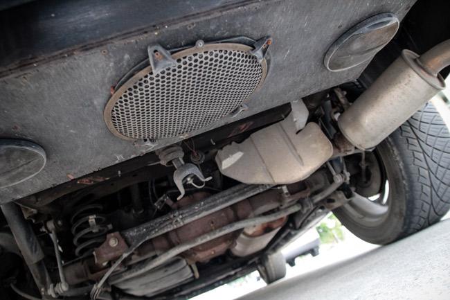 A hearse's external speaker