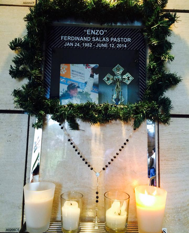 Remembering Enzo Pastor on All Souls' Day