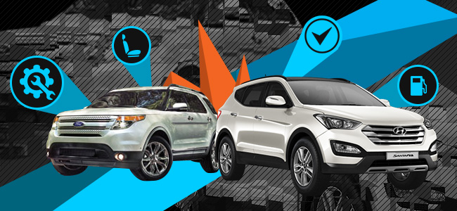 Hyundai Santa Fe vs. Ford Explorer