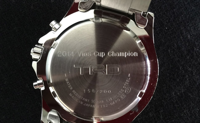 TRD watch for 2014 Vios Cup champion