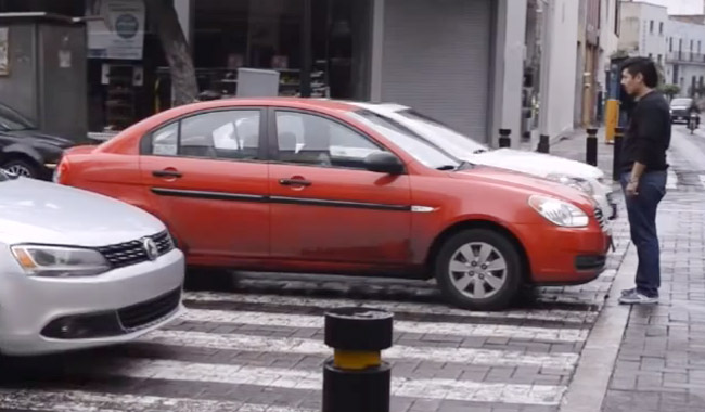 What to do with cars that block pedestrian crossings