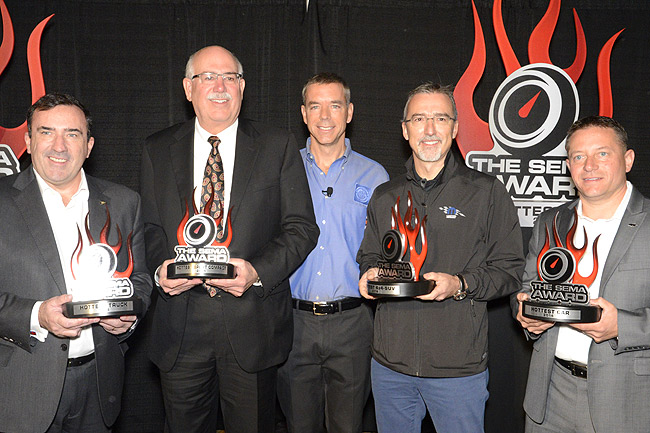 The awardees at the 2014 SEMA Show
