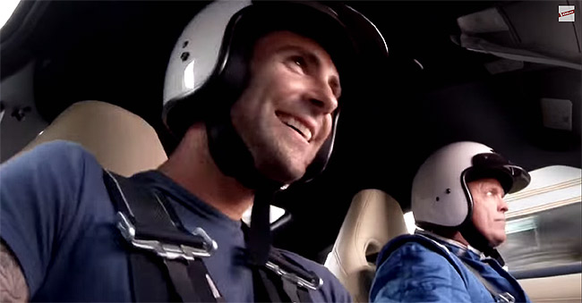 Video: Can Adam Levine belt out tunes while riding a Nissan GT-R?