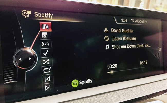 BMW cars now have Spotify.