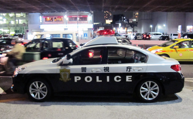 Subaru Legacy police car in Japan