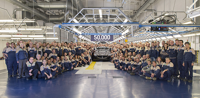 TopGear.com.ph Philippine Car News - Maserati's Giovanni Agnelli Plant rolls out 50,000th unit