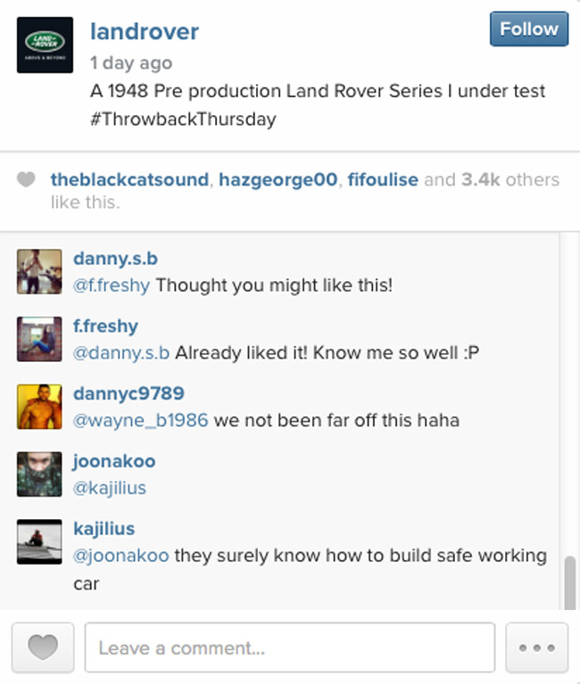 Land Rover on Instagram