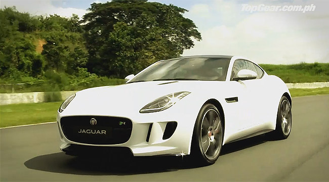 Top Gear Philippines' behind-the-scenes video footage of the Jaguar F-Type R Coupe