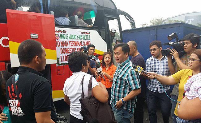 TopGear.com.ph Philippine Car News - MMDA begins Christmas shuttle service to NAIA Terminals 2 to 4