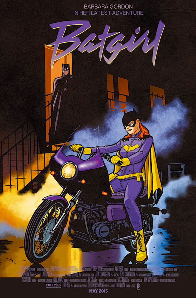 Batgirl as Prince in Purple Rain