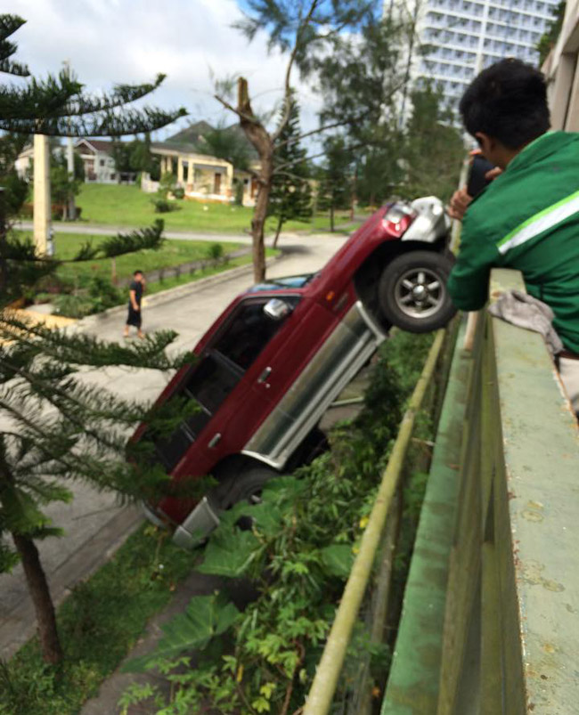 Parking accident in Tagaytay