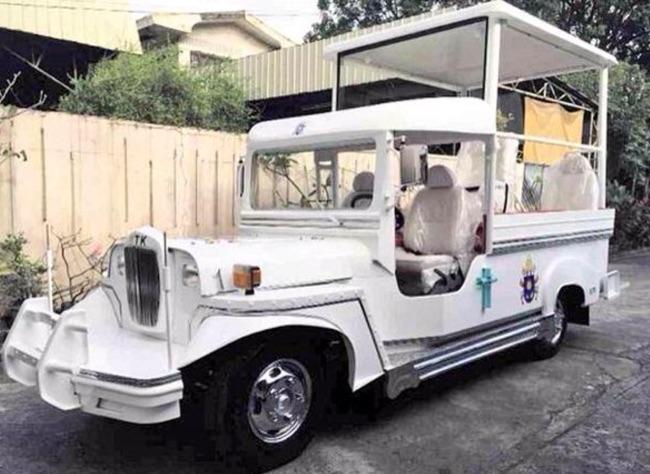 Jeepney-based Popemobile