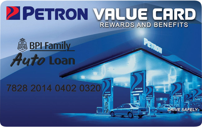 Here's how you can get a free BPI Family Auto Loan-Petron value card