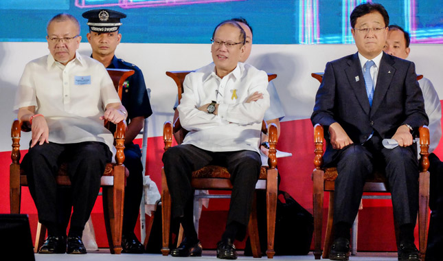 President Aquino at the inauguration of Mitsubishi Motors Philippines' Santa Rosa plant