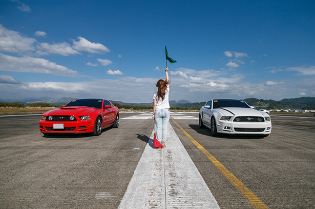 Road trip with a Ford Mustang