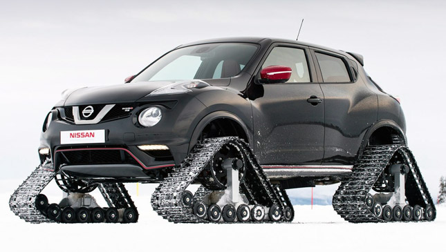 Nissan Creates A Juke That Will Have No Problem Plowing Through Ice