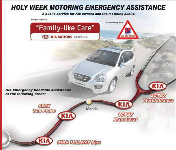 TopGear.com.ph Philippine Car News - 2010 Holy Week Motorist Assistance from Kia Philippines