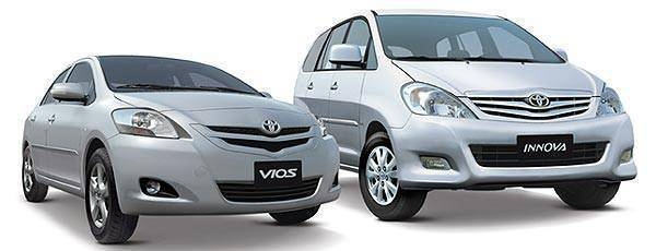 Toyota Vios and Toyota Innova