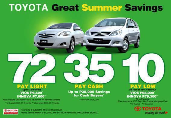 TopGear.com.ph Philippine Car News 2010 Toyota Philippines summer deal