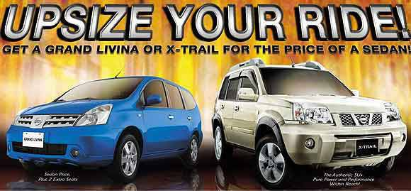 Nissan Upsize Your Ride