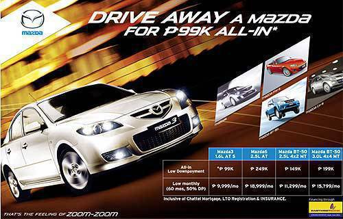 Mazda Zoom-zoom deal