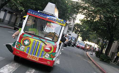 Photo of the electric jeepney in Makati City - Top Gear Philippines AUTO NEWS