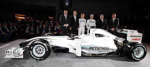 TopGear.com.ph News Mercedes GP Petronas race car unveiled in Stuttgart Germany