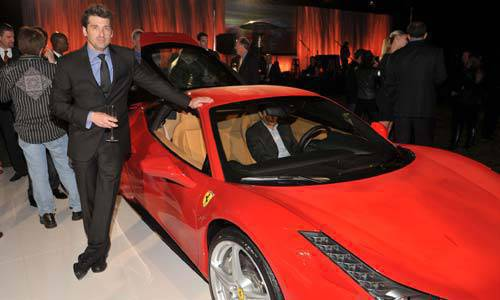TopGear.com.ph Car News - Patrick Dempsey at the Ferrari Auction image