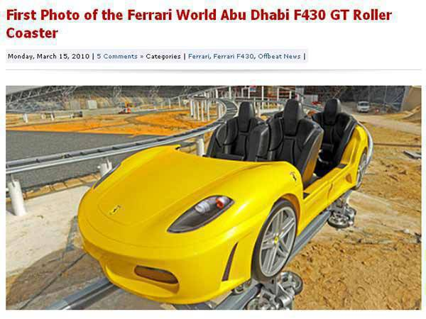TopGear.com.ph Car News - Ferrari World F430 image from CarScoop