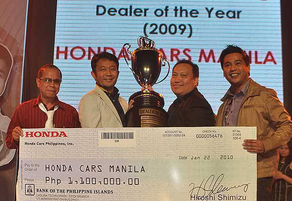 TopGear.com.ph Philippine Car News - Honda Cars Manila is Honda Cars Philippines dealer of the year
