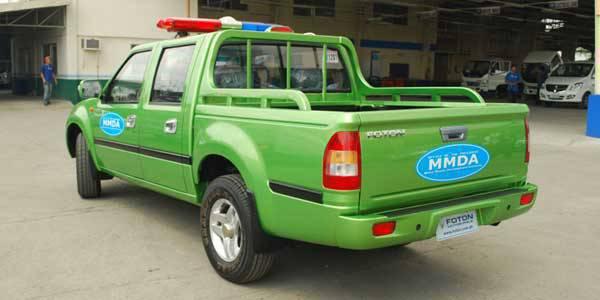 TopGear.com.ph Philippine Car News - MMDA Foton Pickup Trucks