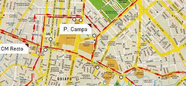 Manila Rerouting Map