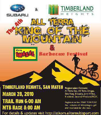 TopGear.com.ph Philippine Car News Subaru All Terra King of the Mountain Challenge poster http://www.elitemultisport.com/index.php?option=com_k2&view=item&id=149:the-4th-all-terra-king-of-the-mountain-and-mang-inasal-barbeque-festival