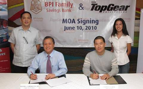 TopGear.com.ph Philippine Car News - BPI-Top Gear Philippines partnership