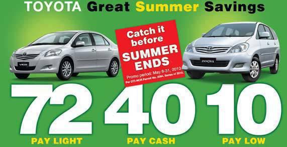 TopGear.com.ph Philippines Car News - Toyota Summer Promo