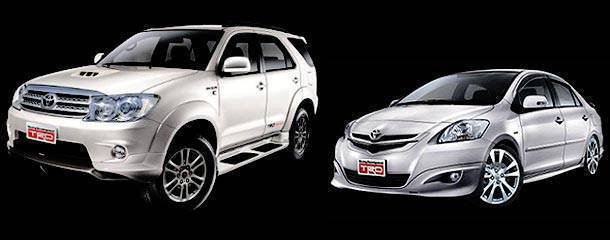 Toyota TRD Accessories for Toyota Fortuner and Toyota Vios