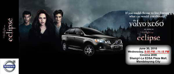TopGear.com.ph - Volvo's exclusive screening ticket to The Twilight Saga: Eclipse