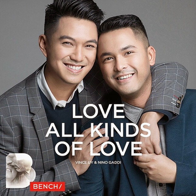 "Bench's ""Love All Kinds of Love' ad campaign"