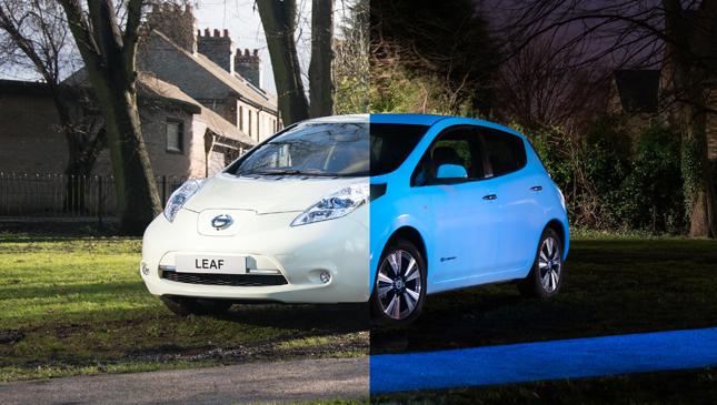 Nissan Leaf glow-in-the-dark