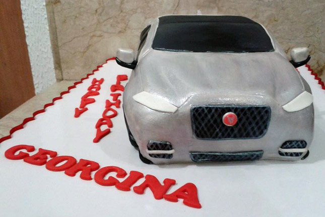 Jaguar XJ cake for Georgina Wilson