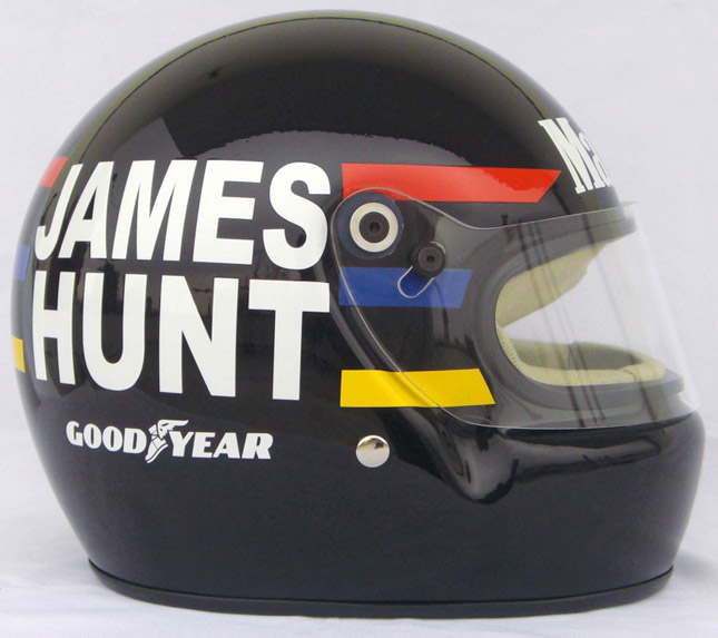James Hunt Formula 1 helmet