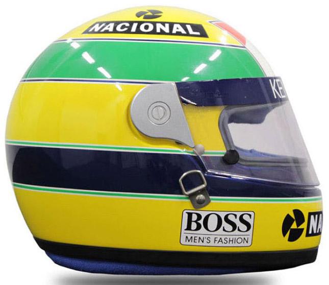 Ayrton Senna Formula 1 helmet
