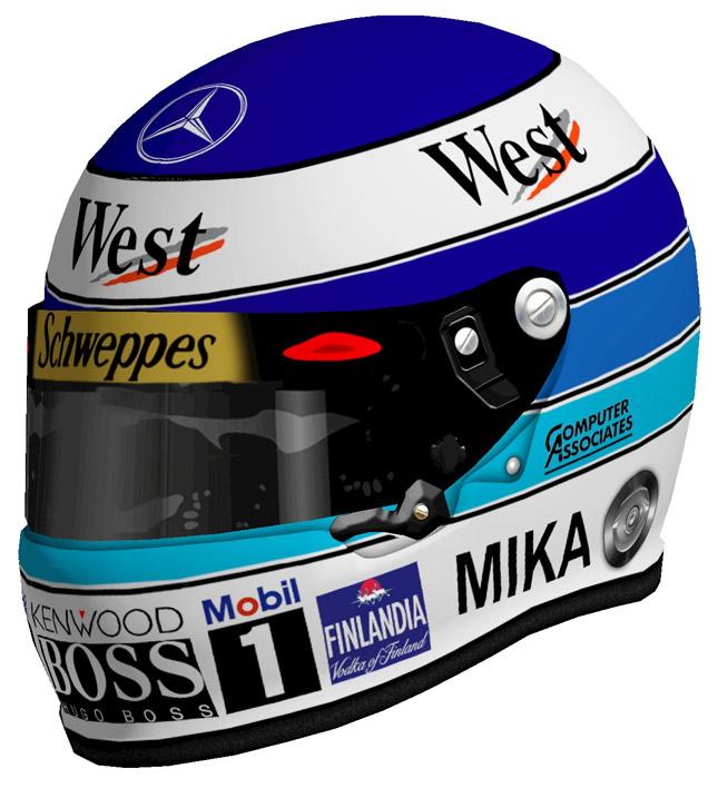 Mika Hakkinen Formula 1 helmet