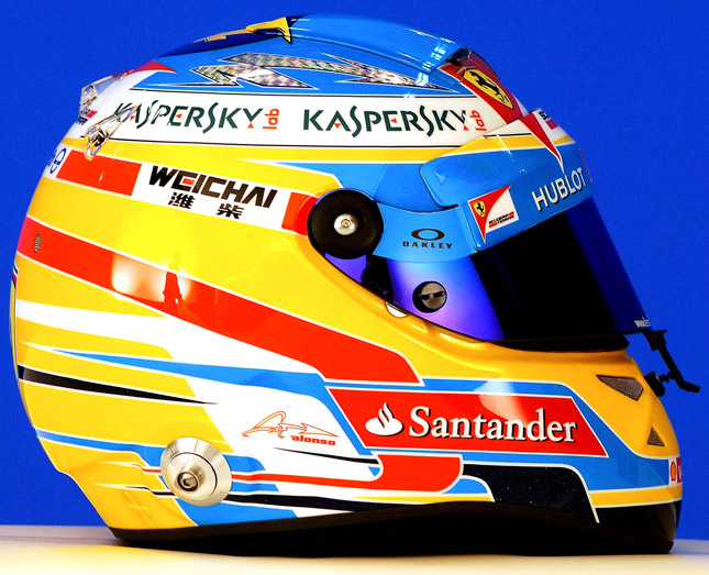 Fernando Alonso Formula 1 helmet
