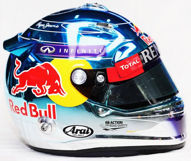 Sebastian Vettel Formula 1 helmet