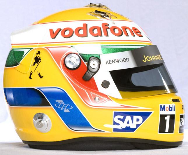 Lewis Hamilton Formula 1 helmet