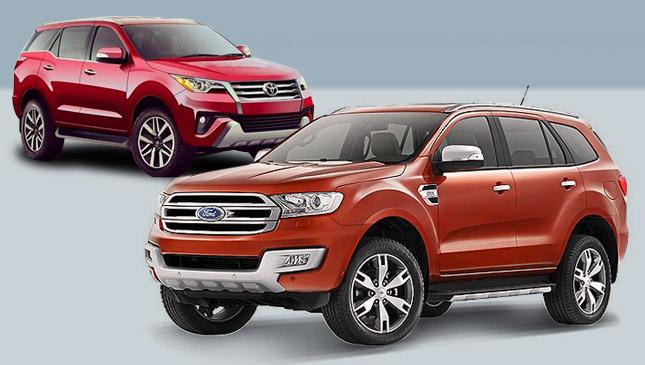 Toyota Fortuner versus Ford Everest