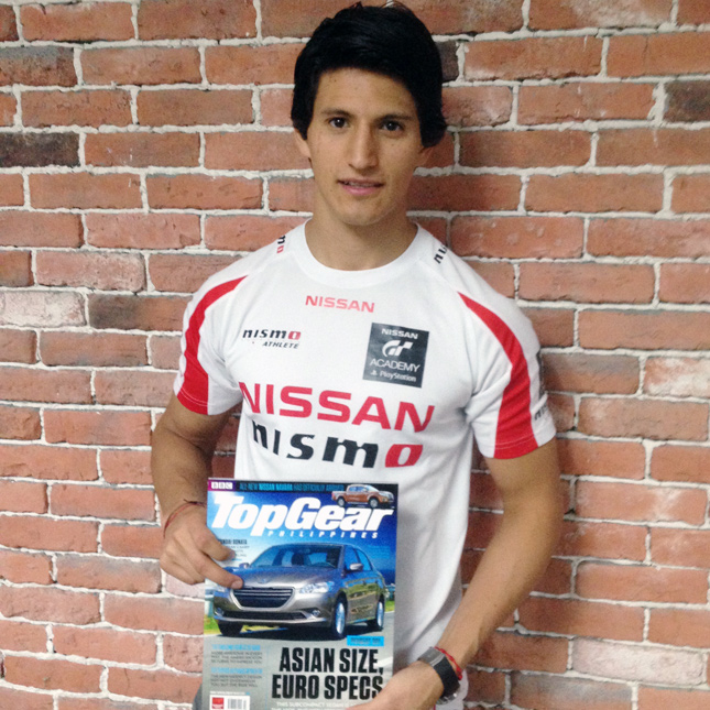 2014 Nissan GT Academy International champion Ricardo Sanchez