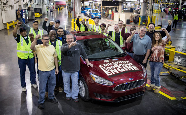 Ford celebrates 5 millionth EcoBoost engine